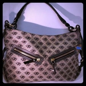 Dooney & Bourke Signature Canvas and Leather Bag